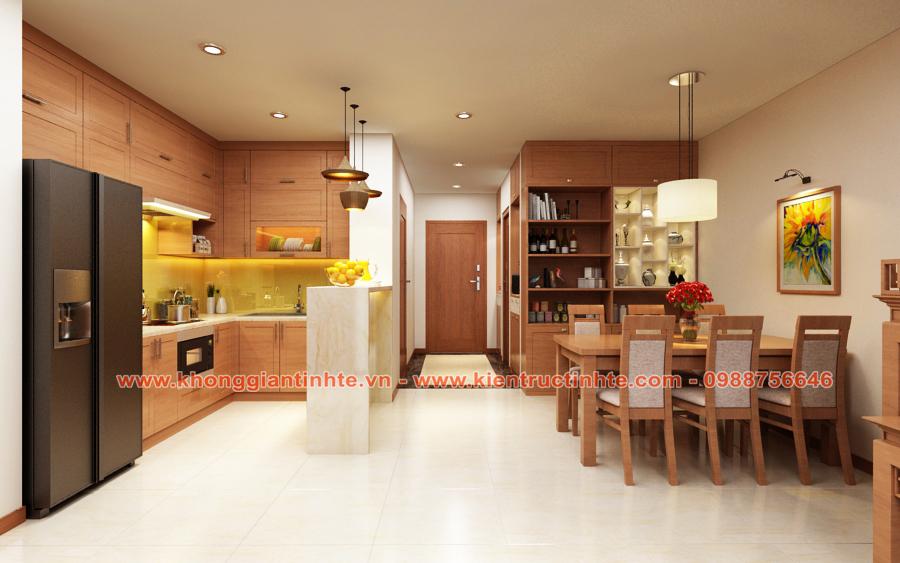 Thiết kế - Thi công nội thất căn hộ chung cư 130m2 Thăng Long No1-  Hà Nội