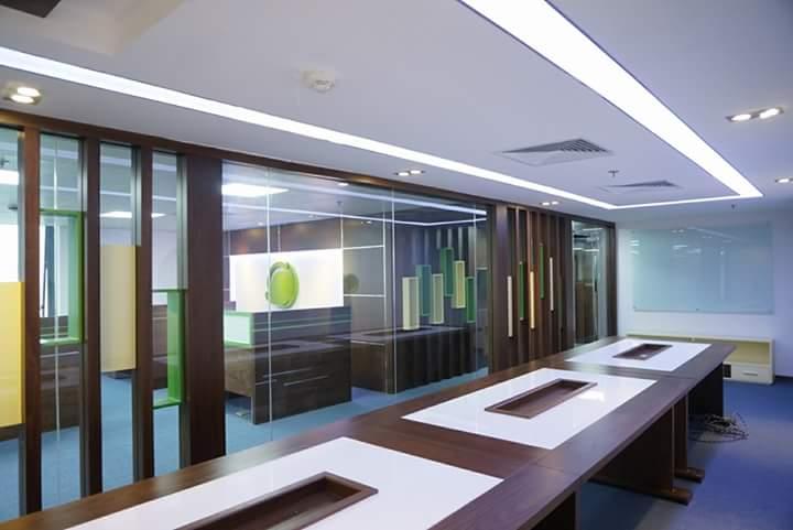 Thi công nội thất văn phòng làm việc 260m2, 25 Lý Thường Kiệt- Hà Nội