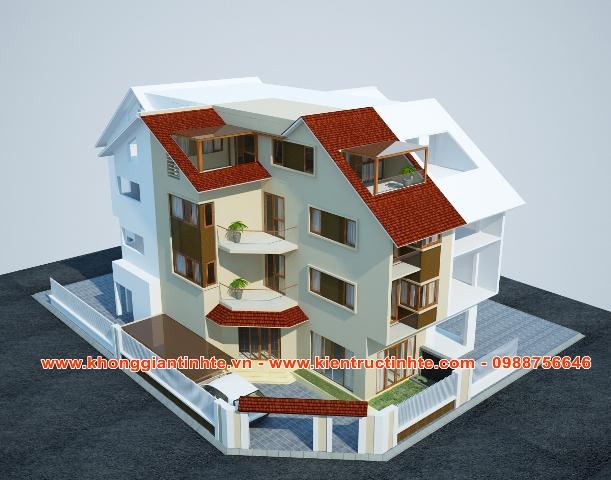 Nội thất biệt thự 200m2x 4 tầng, khu đô thị Thành phố Giao Lưu- Hà Nội