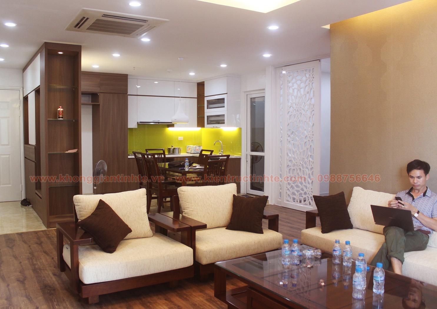 Thiết kế thi công hoàn thiện nội thất căn hộ chung cư NO4- Trung Hòa