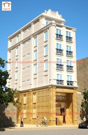 Thiết kế nhà 120m2 x 7 tầng kết hợp ở và kinh doanh- Hà Nội