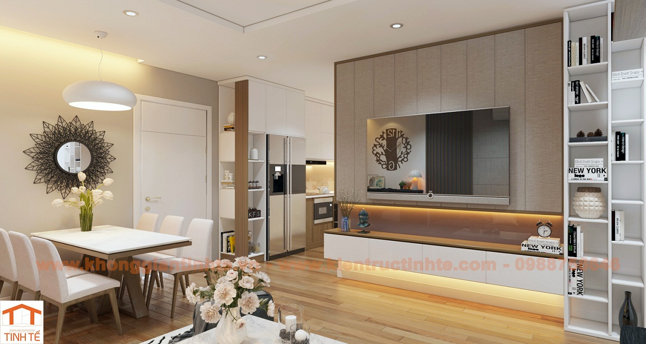 Nội thất căn hộ 68m2, chung cư FLC, Từ Liêm, Hà Nội