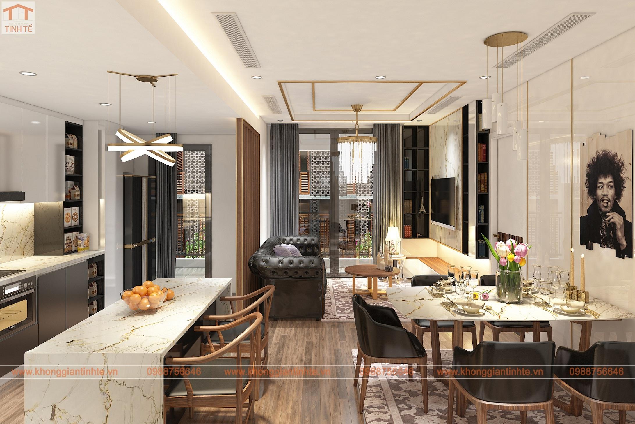 Nội thất căn hộ 115m2, ParkHill, Timescity Hà Nội