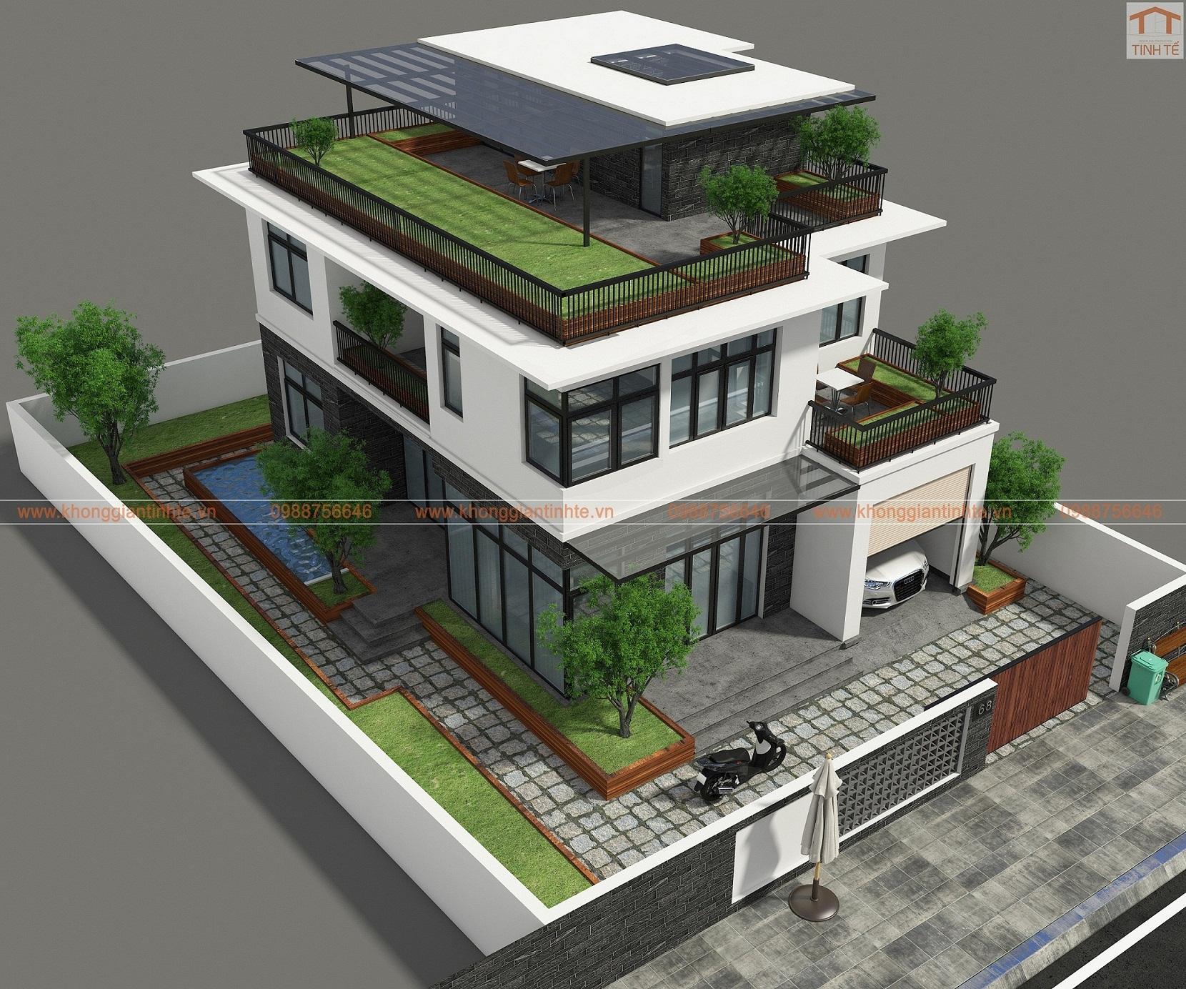 Nhà 2 tầng, 10m x 14m trên diện tích 200m2 đất, ngoại thành Hà Nội