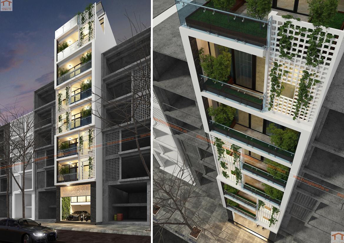 Nhà ở kết hợp dịch vụ, 8 tầng, 6m x 13m, Kim Mã, HN