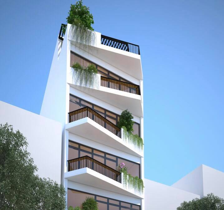Nhà ở kết hợp văn phòng cho thuê, 70m2 x 7 tầng, HN