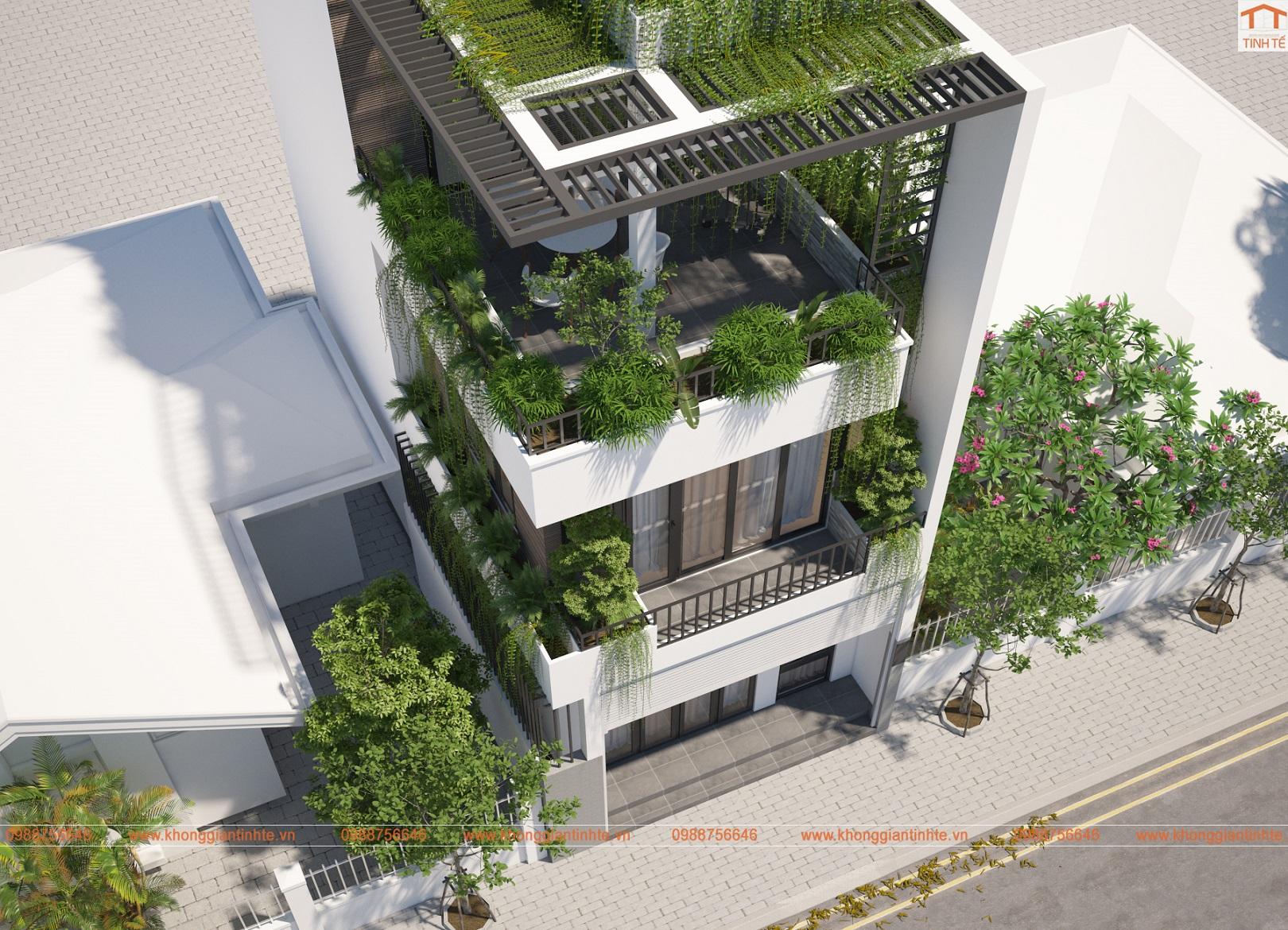 Cải tạo kiến trúc- nội thất nhà lô phố, 55m2 x 3 tầng, Chèm, Tây Hồ- Hà Nội