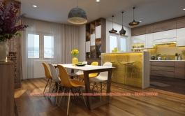 Thiết kế - Thi công căn hộ 130m2 Chung cư CT2A - Nghĩa Đô - Hà Nội
