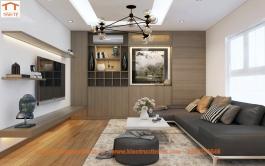 Thiết kế nội thất căn hộ chung cư 110m2, Long Biên, Hà Nội