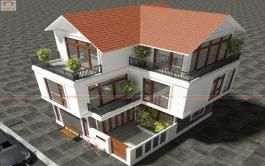 Nhà ở gia đình, 80m2 x 3 tầng, Thanh Oai, HN