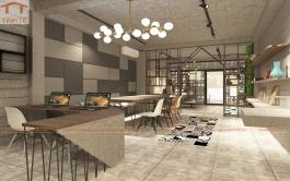 Showroom trưng bày sản phẩm vật liệu nội thất công ty betongplus