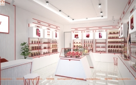 Showroom trưng bày sản phẩm hãng mỹ phẩm Edally- Hàn Quốc