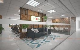 Thiết kế nội thất văn phòng làm việc Jjob